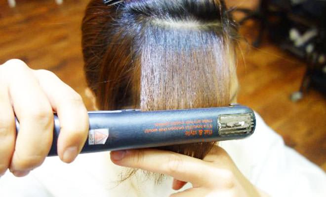 ストレートアイロン 前髪