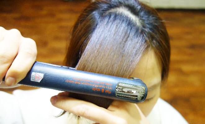 前髪 流す 方法