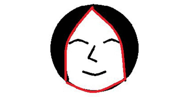 丸顔 顔型
